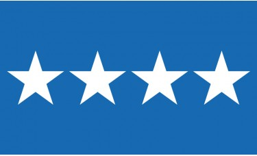 4 Star Air Force General Outdoor Flag