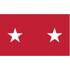 2 Star Army Major General Outdoor Flag