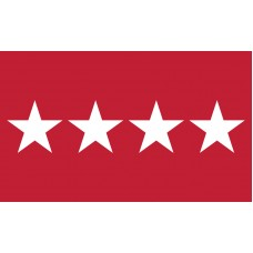 4 Star Army General Outdoor Flag