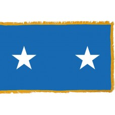 2 Star Air Force Major General Indoor Flag