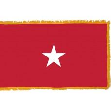 1 Star Army Brigadier General Indoor Flag