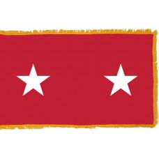 2 Star Army Major General Indoor Flag