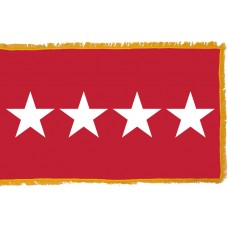 4 Star Army General Indoor Flag