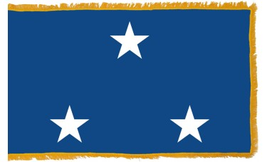 3 Star Seagoing Navy Vice Admiral Indoor Flag