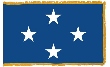 4 Star Seagoing Navy Admiral Indoor Flag
