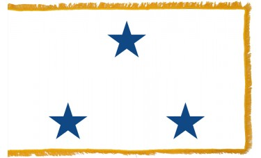 3 Star Non-Seagoing Navy Vice Admiral Indoor Flag