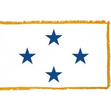 4 Star Non-Seagoing Navy Admiral Indoor Flag