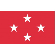 4 Star Marine Corps General Outdoor Flag