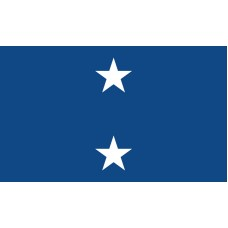 2 Star Seagoing Navy Rear Admiral Outdoor Flag