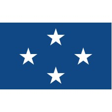 4 Star Seagoing Navy Admiral Outdoor Flag