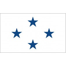 4 Star Non-Seagoing Navy Admiral Outdoor Flag