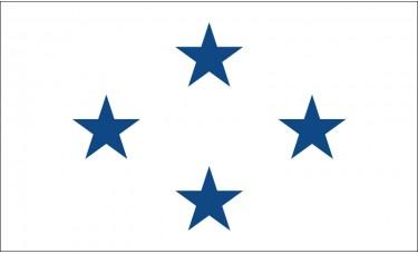 4 Star Non-Seagoing Navy Admiral Outdoor Flag