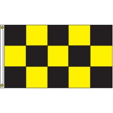 Checkered Black/Yellow 3' x 5' Flag Outdoor Nylon