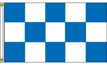Checkered Blue/White 3' x 5' Flag Outdoor Nylon