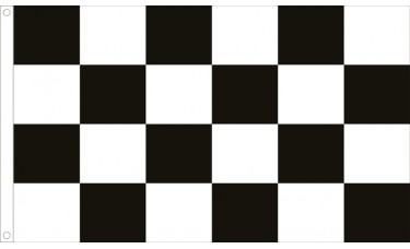 Checkered Black/White Flag Outdoor Nylon