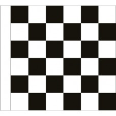 Motorcycle Racing Finish Checkered Flag