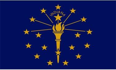 Indiana Flag Outdoor Nylon