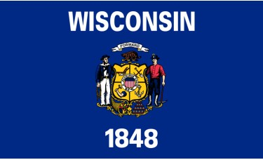 Wisconsin Flag Outdoor Nylon