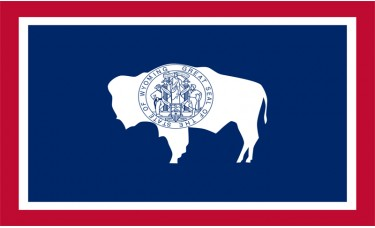 Wyoming Flag Outdoor Nylon