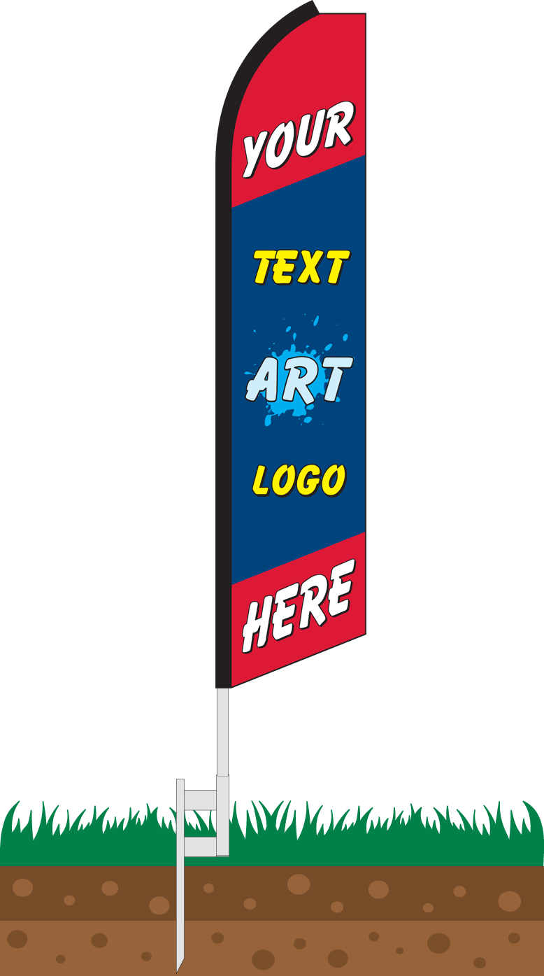 Custom Printed Full Color Swooper Feather Flag