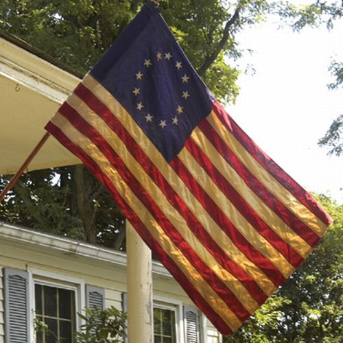 Antique Cotton Betsy Ross 13 Star Flag Flagdom